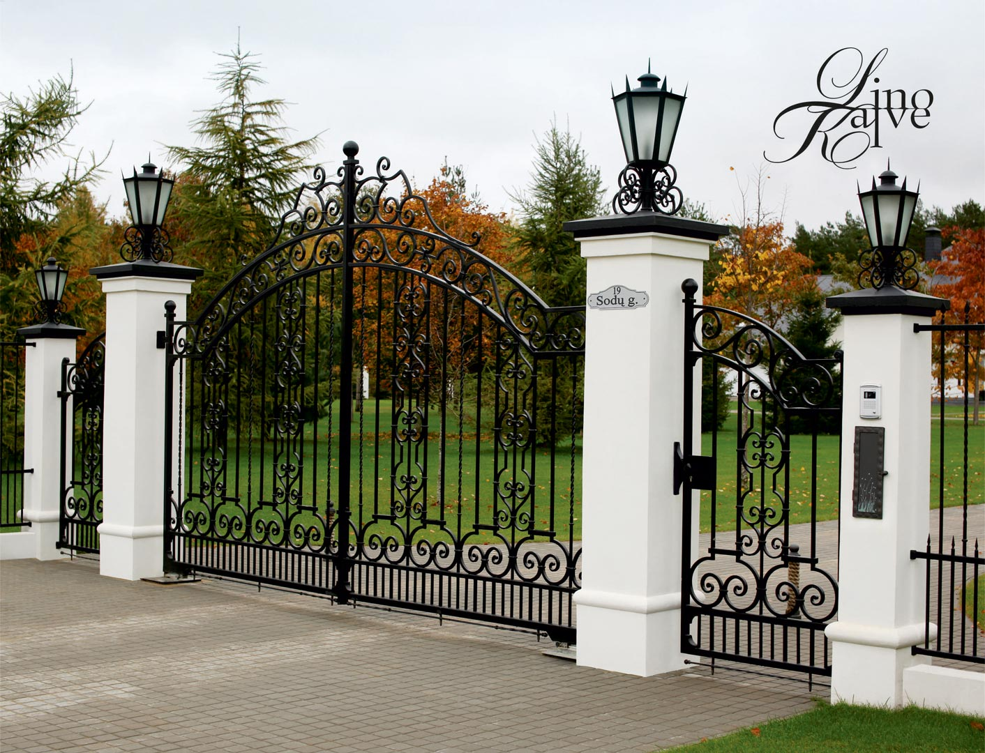 GATES, FENCE AND LIGHTS.